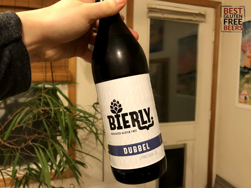 bierly brewing dubbel gluten free beer review