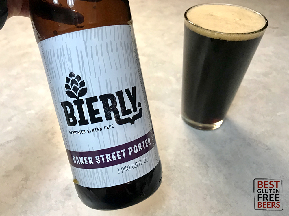 Bierly Brewing Baker Street Porter gluten free beer