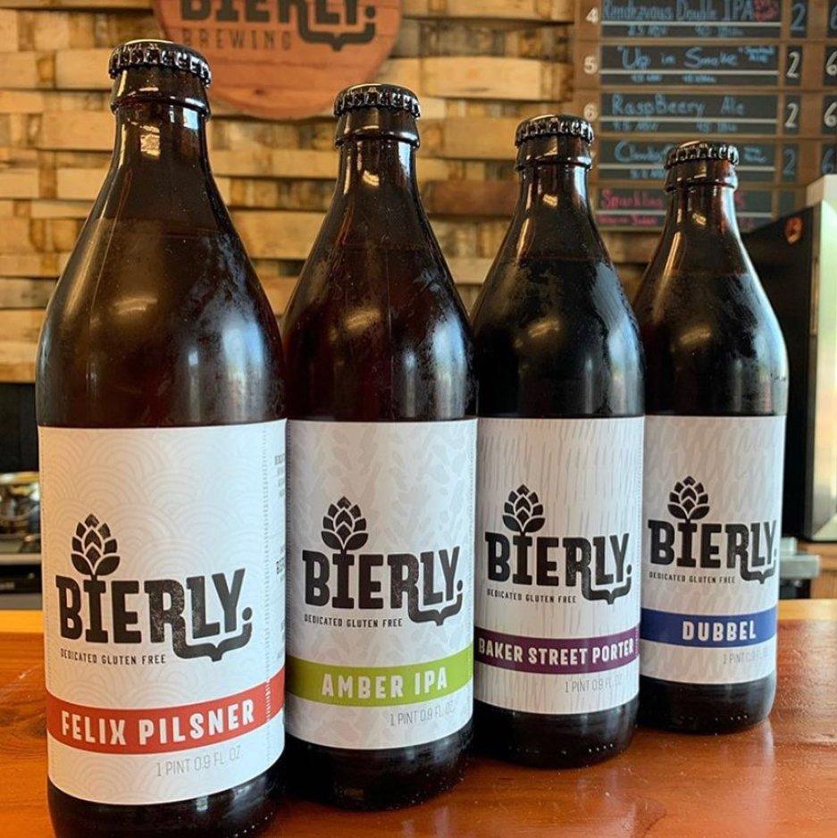 Bierly Brewing gluten free beers
