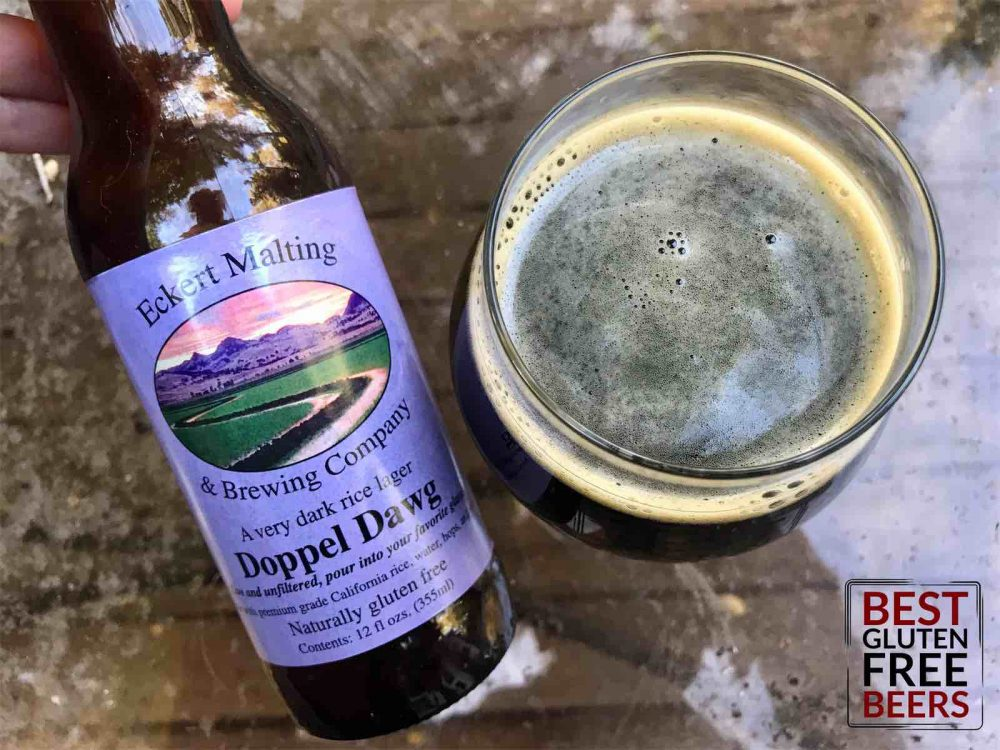 Doppel Dawg very dark rice lager eckert malting and brewing