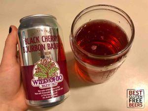 Wild Ohio Black Cherry Bourbon Barrel Tea Beer 3 gluten free tea beer