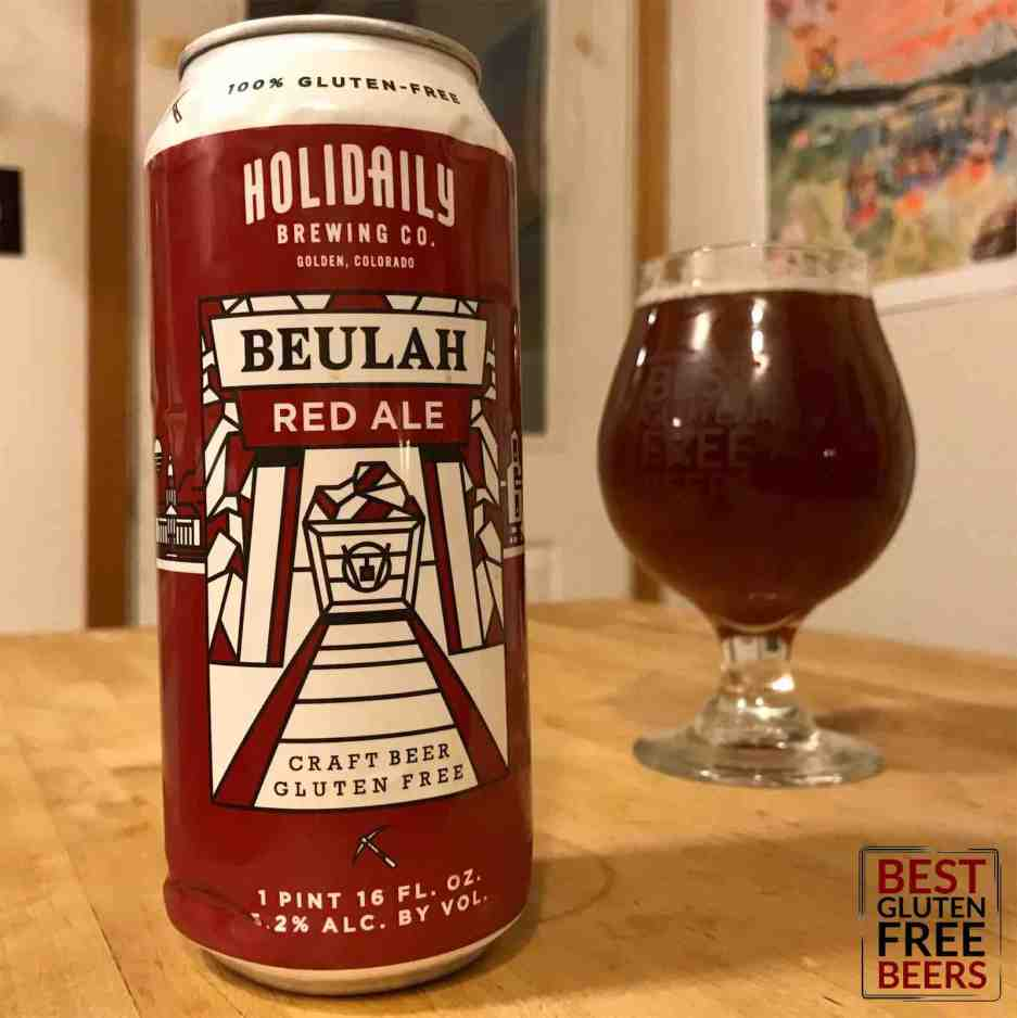 Holidaily Brewing gluten free Beulah red ale