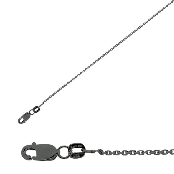 Technibond Cable Link Chain Necklace Black Rhodium Gold