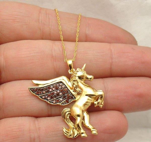 Angel Wing Diamond Necklace