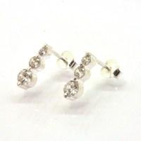Diamonique CZ Fancy Journey Stud Earrings 925 Sterling ...