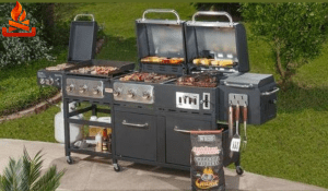 grill griddle smoker combo