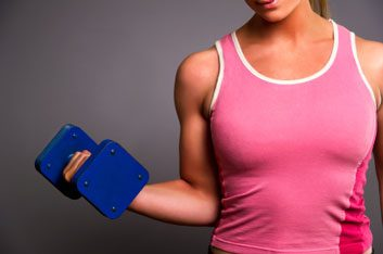 woman arm muscle fit
