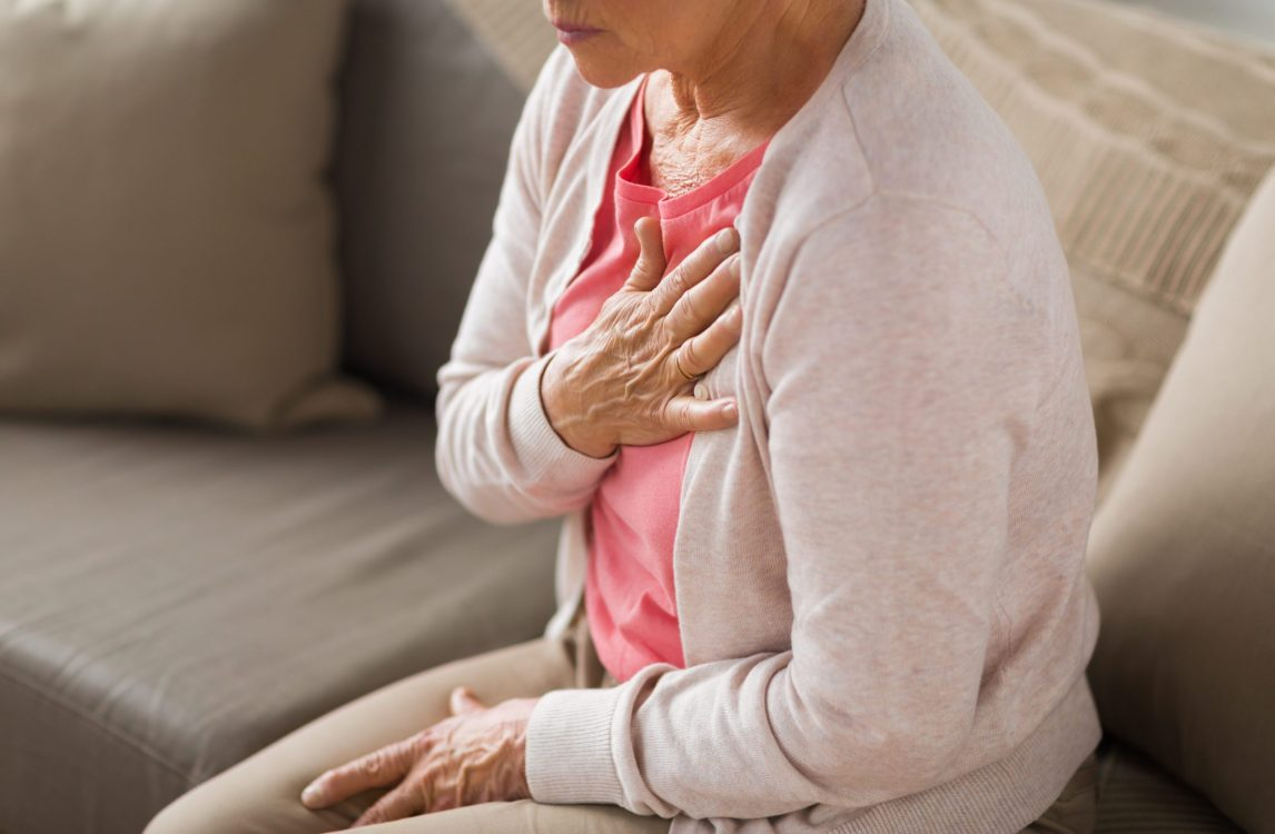 types of heart disease   woman clutching her heart