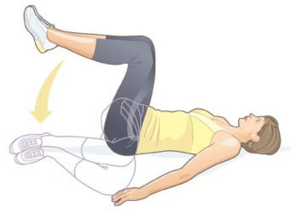 Spinal trunk rotation stretch