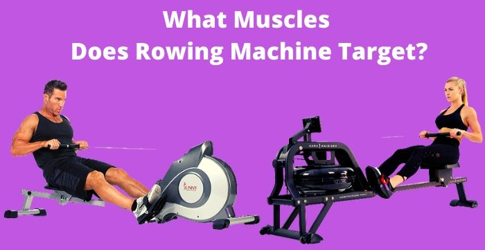 what muscles does rowing machine target