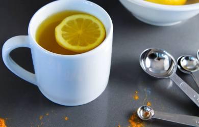 Turmeric and Lukewarm Lemon Water