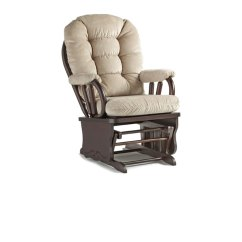 Best Chairs Geneva Glider White Fold Up Bed Chair Home Furnishings Wooden Gliders