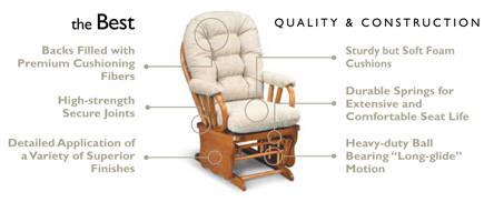 best glider chairs air filled chair features and benefits storytime series rockers quality picture