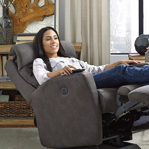 push button recliner chairs eames chair replica power tilt headrest | best home furnishings