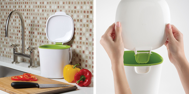 compost bin for kitchen jcpenney rugs top 5 best bins small and large food caddy oxo good grips