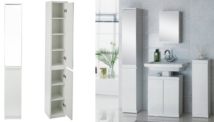 Top 10 Best Tall Bathroom Storage Cabinets  Mirrored and