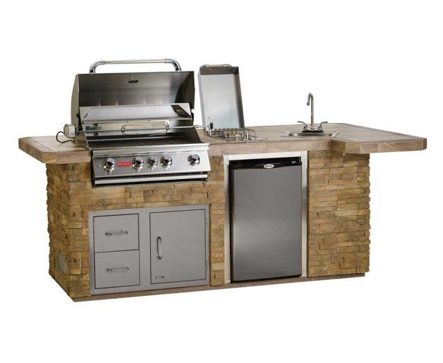 outdoor kitchen grill island