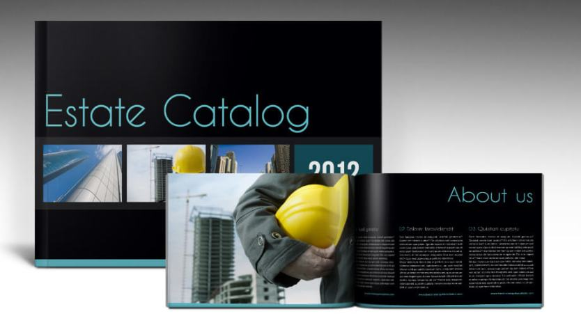 Estate Brochure - Free InDesign Template to make your own brochure
