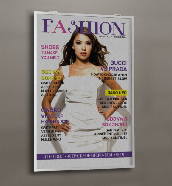 fashion magazine cover wall