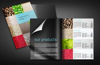 Flexible product indesign catalog template