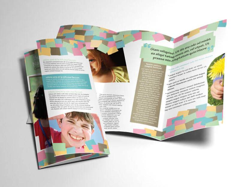 fun play school tri-fold brochure two