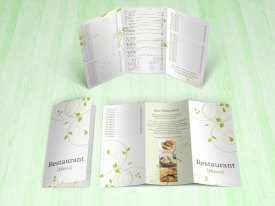 green swirls tri-fold menu inner outer