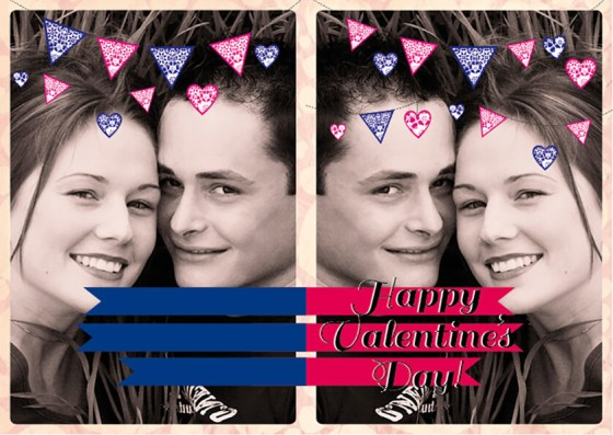 Half-fold Valentines Template Preview Outside