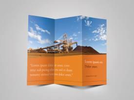 industrial mining tri-fold outside