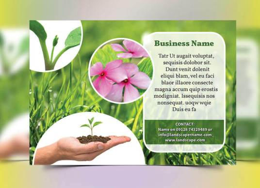 landscaping flyer front