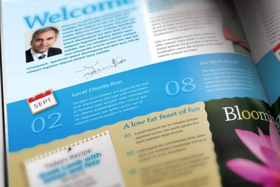 a4 non profit community newsletter template 4 pages