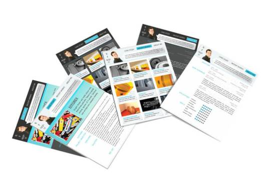 free indesign portfolio resume template 2 color themes 3 pages
