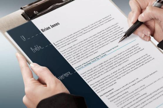 resume and business card set indesign cs4 template