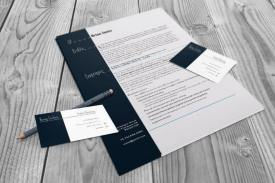 Resume and business card set indesign cs4 template resume and business card flat colourmoves