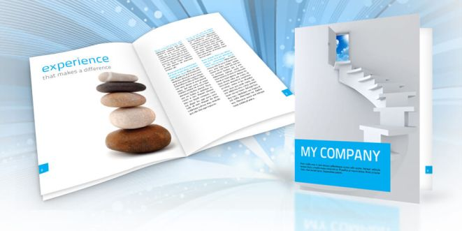 Elegant Corporate Brochure Template Sample Pages - Company brochure template