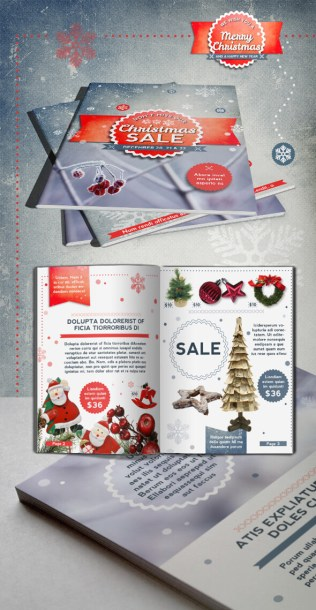 Retro Christmas Brochure Template Download 12 Sample Pages
