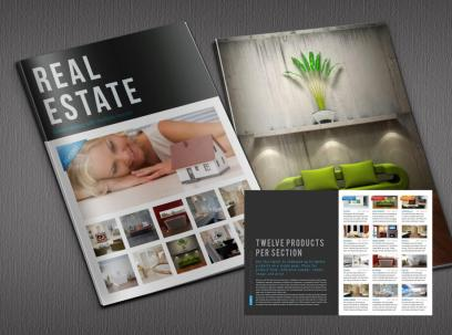 Real estate indesign catalogue template