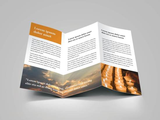 church bulletin trifold brochure download 6 layout pages
