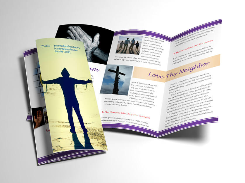 Trifold Religious Brochure Open And Closed Preview
