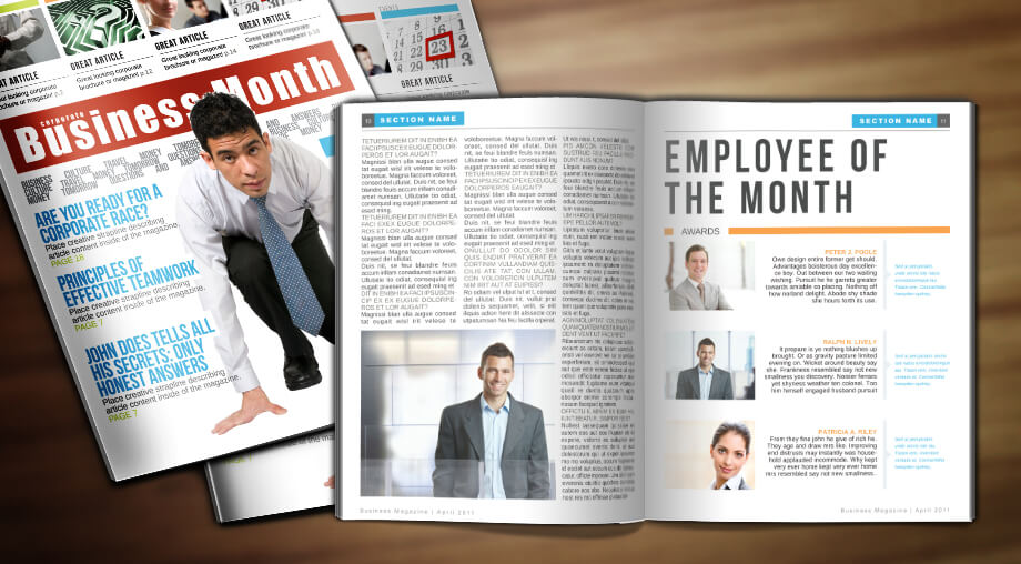 Business Week Template. Corporate InDesign Magazine Template.