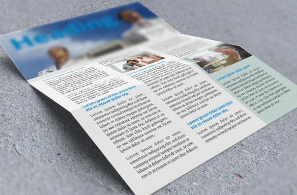 company newletter flat folded