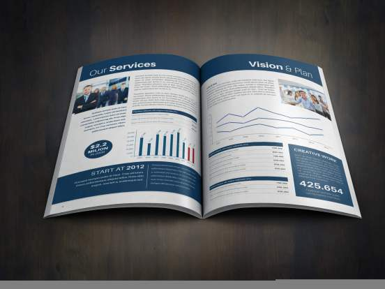 Corporate Annual Report Inside Preview