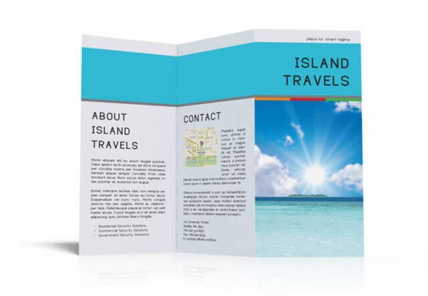 Free InDesign tri-fold brochure template