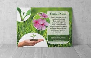 landscaping flyer wall flat