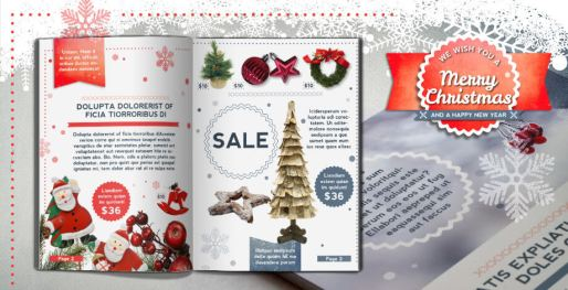 Retro Christmas Brochure Template. Download 12 Sample Pages.
