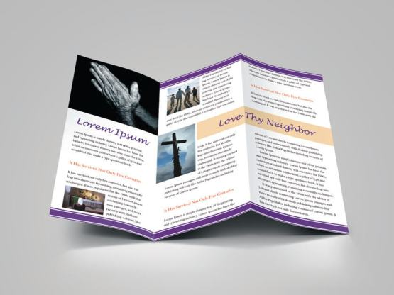Download Design Template For Church Bulletin / Religious Brochure