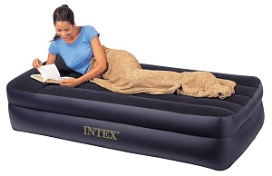 Intex Pillow Rest Raised Air Bed Mattress Twin Size Guest Ideas For Small