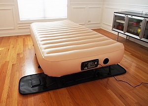 Upscale Simplysleeper Hideaway Guest Twin Air Bed With Integrated Travel Case And Stand Legs