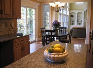 new construction home_kitchen_after staging