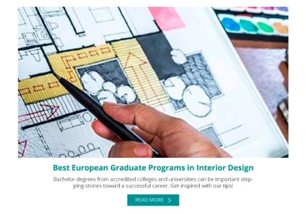 Best interior design masters programs in europe for Best interior design graduate schools