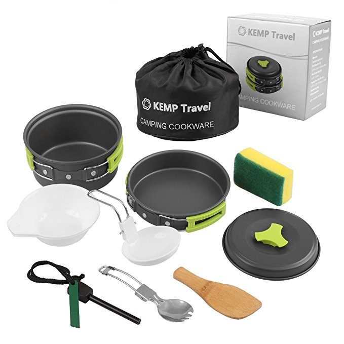 KEMP TRAVEL CAMPING COOKWARE